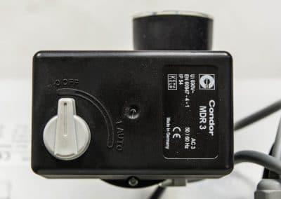 Auch die 400 Volt easy Kompressoren werden mit dem Markendruckschalter von Condor betrieben.